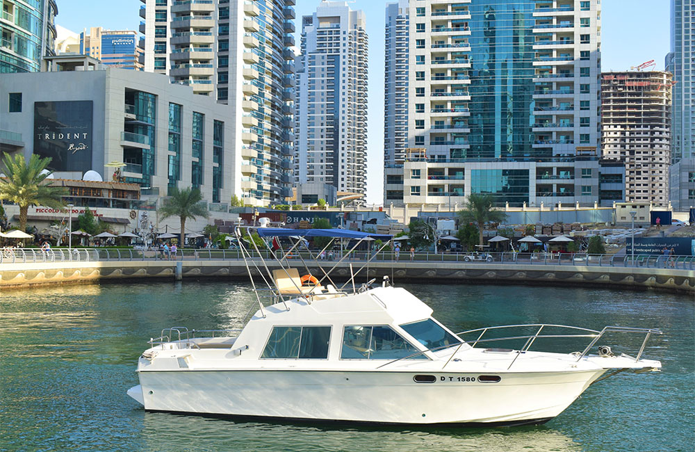 Riverside Boat having commitment to excellence are great for fishing or weekend getaways in Dubai