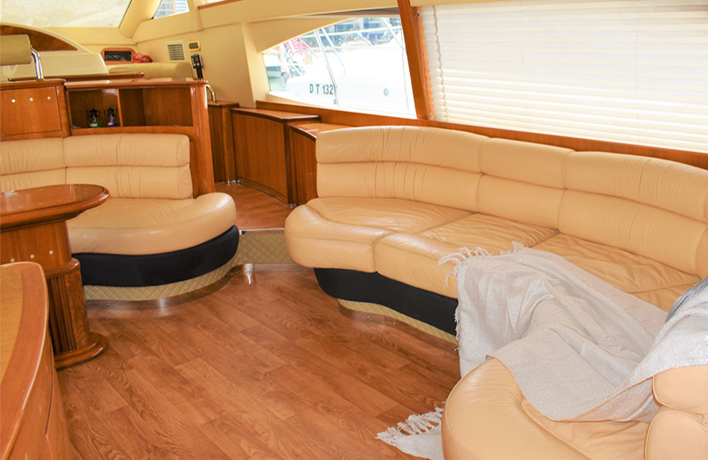 Living space with amazing yacht design in every piece cleaned regularly by our yacht crew